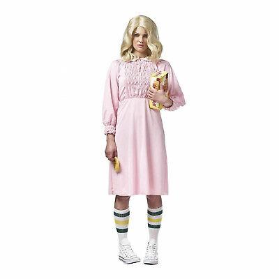 Women's Stranger Girl Things Eleven Cosplay Costume Pink Dress Tube Socks S M - Tube Sock Costume