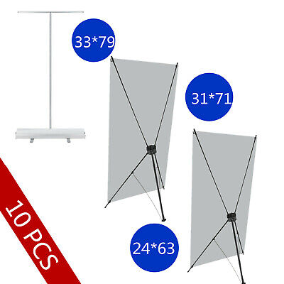 10 Pack Banner Stand Trade Show Sign Display Promotion Roll Up Retractable