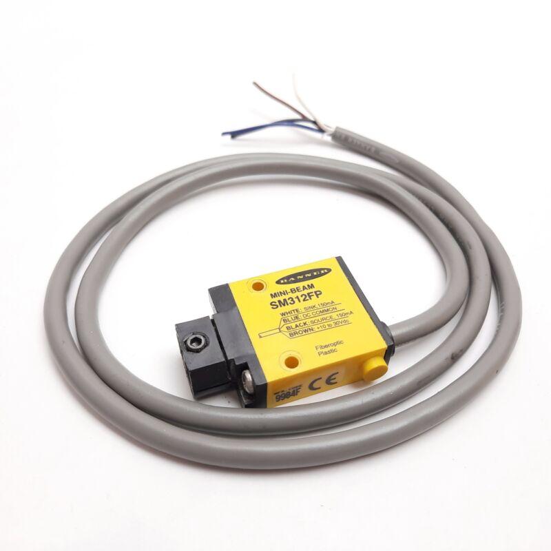 Banner SM312FP Photoelectric Sensor, Voltage: 10-30VDC, Output: 150mA, 4-Wire