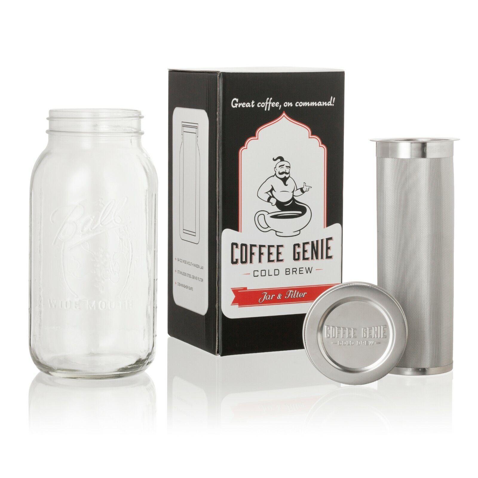 2 Quart ~ Cold Brew Coffee Maker ~ 64 oz Wide Mouth Mason Ja