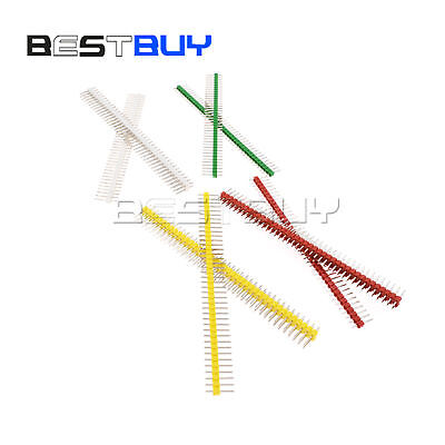 10pcs 1x40pin-2x40pin Male 2.54mm Breakable Pin Header Straight Colorful Bbc
