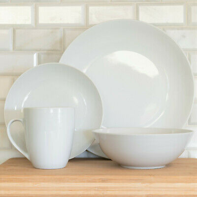 10 Strawberry Street White Porcelain 32-Pc Coupe Dinnerware for 8 NEW FREE SHIP