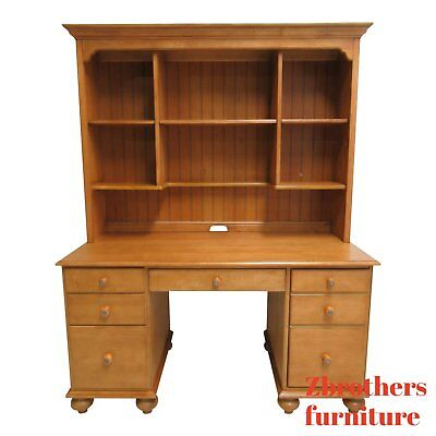 - Ethan Allen Computer Desk with Hutch Country Cottage