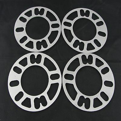 "(4) 1/8"" Inch 5x4.75 Flat Wheel Spacers 
