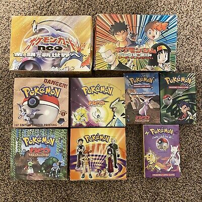 Pokemon Wotc Empty Booster Boxes Neo Destiny Neo Discovery Gym Hero Fossil 1st