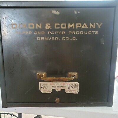 Vintage Large Heavy Metal Single Drawer Tabletop File Cabinet Industrial Dixon
