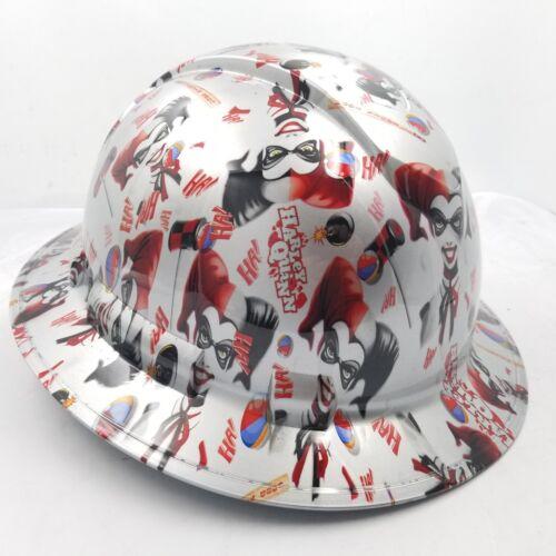 FULL BRIM Hard Hat custom hydro dipped , NEW HARLEY QUINN JOKER BATMAN NEW 1