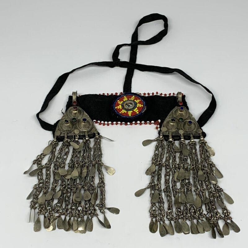 142g, Kuchi Headdress Headpiece Afghan Ethnic Tribal Gypsy @Afghanistan,B14455