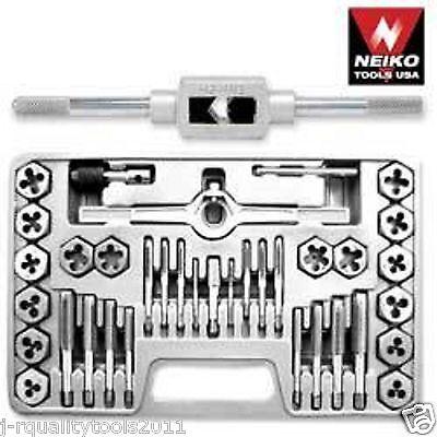 Nieko 40 Piece Professional Metric Mm Size Inch Steel Tap And Die Tool Set Kit
