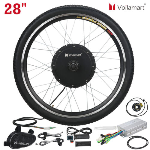 "28"" Front Wheel Electric Bicycle Motor Conversion Kit Bike Cycling Hub 48V 1000W"