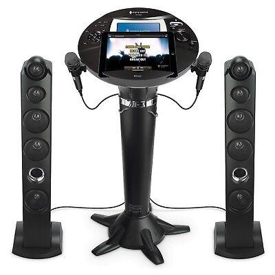 "New Singing Machine Pedestal Karaoke System 7"" LCD Color Screen Tower Speakers"