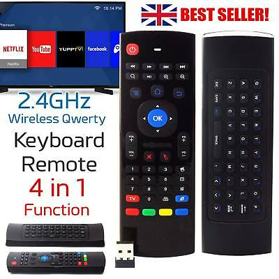 Wireless Keyboard Remote Qwerty Fly Air Mouse for Android TV Box M8 2.4GHz XBMC