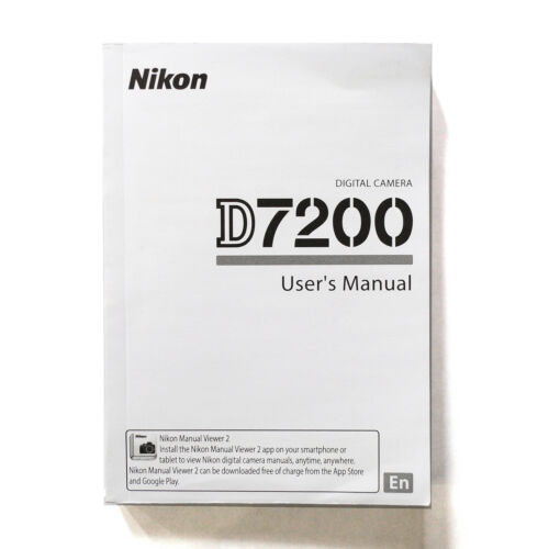 Nikon D7200 User