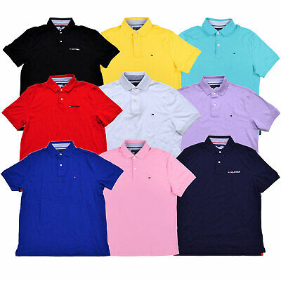 Tommy Hilfiger Mens Polo Shirt Solid Classic Fit Interlock Tee Logo Nwt S M L (Classic Polo Shirt)