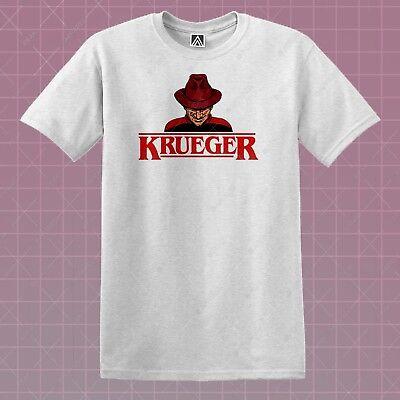 Krueger T-shirt Elm Nightmare Stranger Tee Eleven Halloween Horror 80s Film Top - 80s Halloween Films