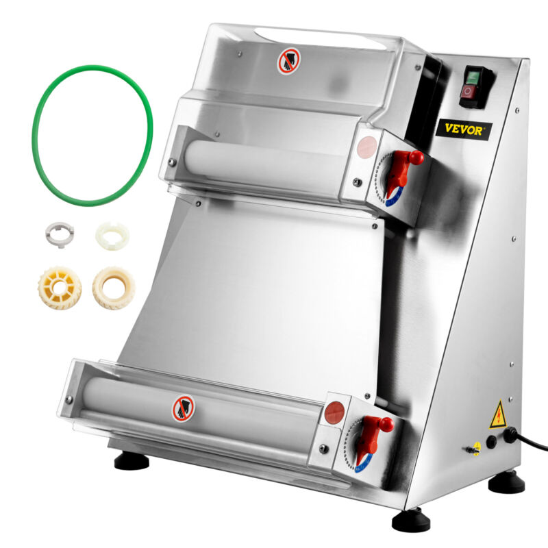 """VEVOR Electric Pizza Dough Roller Sheeter Pastry Press Making Machine Max 16"""""""