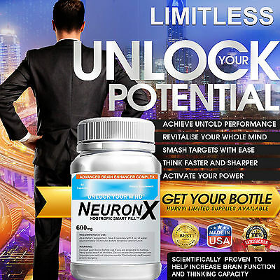 NEURONX LIMITLESS PILL CEREBRAL ENHANCEMENT COMPLEX 45 DAYS 90 CAPS New Formula* 1