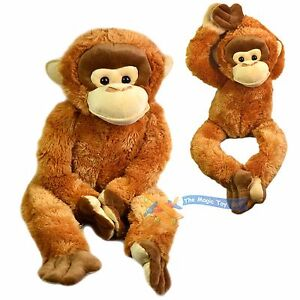 Large 100 cm Soft Plush Wild Orangutan Cuddles Happy Hanging Monkey Teddy Toy