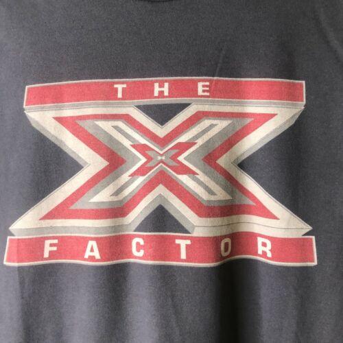 VTG THE X FACTOR FOX TV T-Shirt Simon Cowell Sharon Osbourne Louis Walsh Minogue