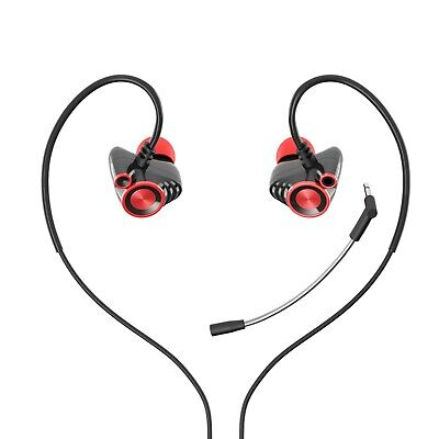 HP In Ear Earphones Wired Headphones with Detachable Mic for Smartphone PC PS4