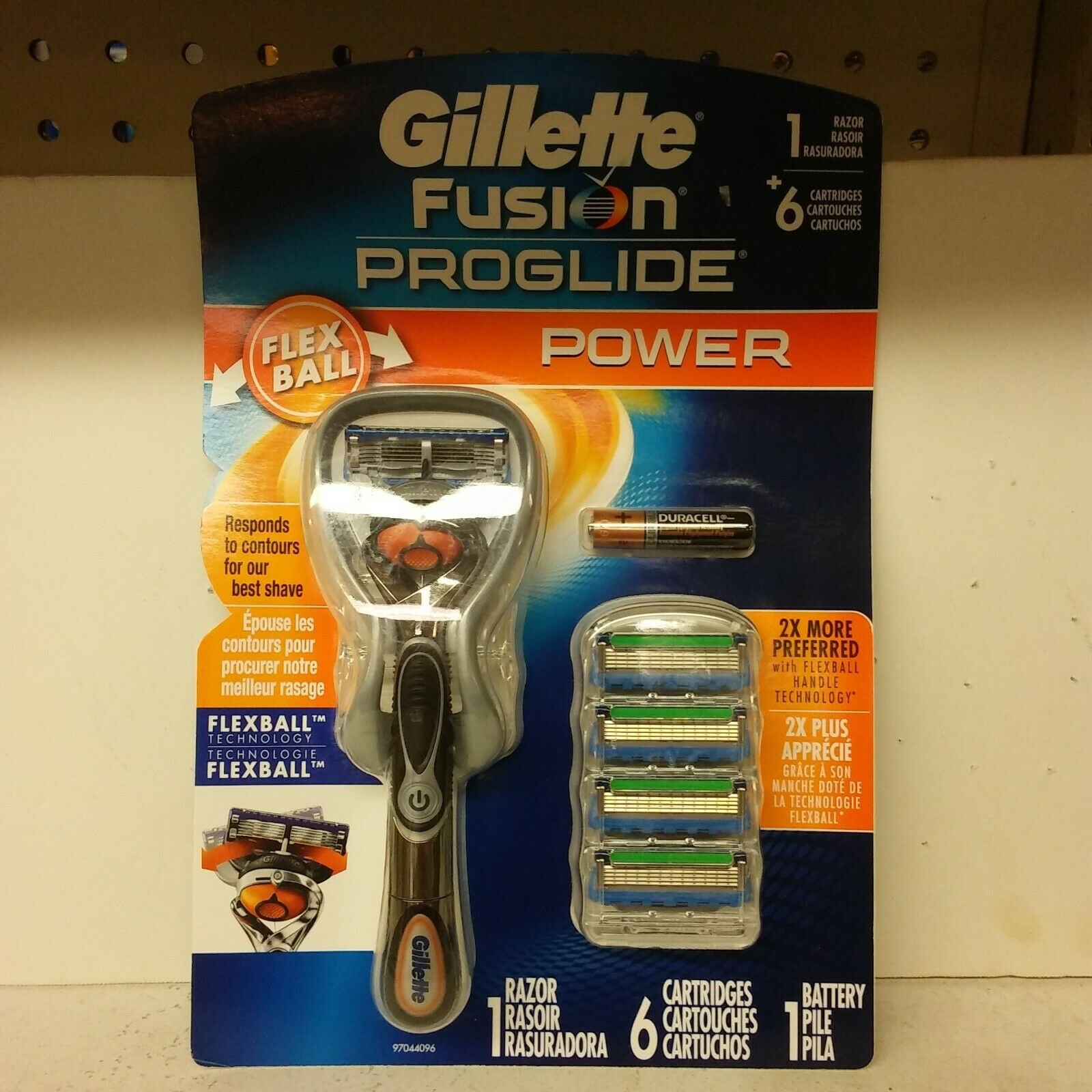 6 gillette fusion proglide power flexball razor
