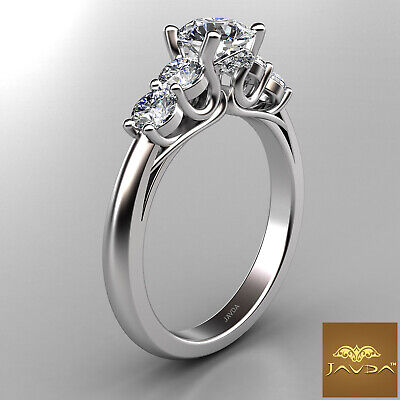5 Stone Trellis Setting Round Diamond Engagement Prong Ring GIA F Color SI1 1Ct  2