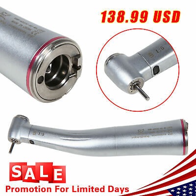 Dental 15 Electric Fiber Optic Contra Angle Led Increasing Handpiece Nsk Style