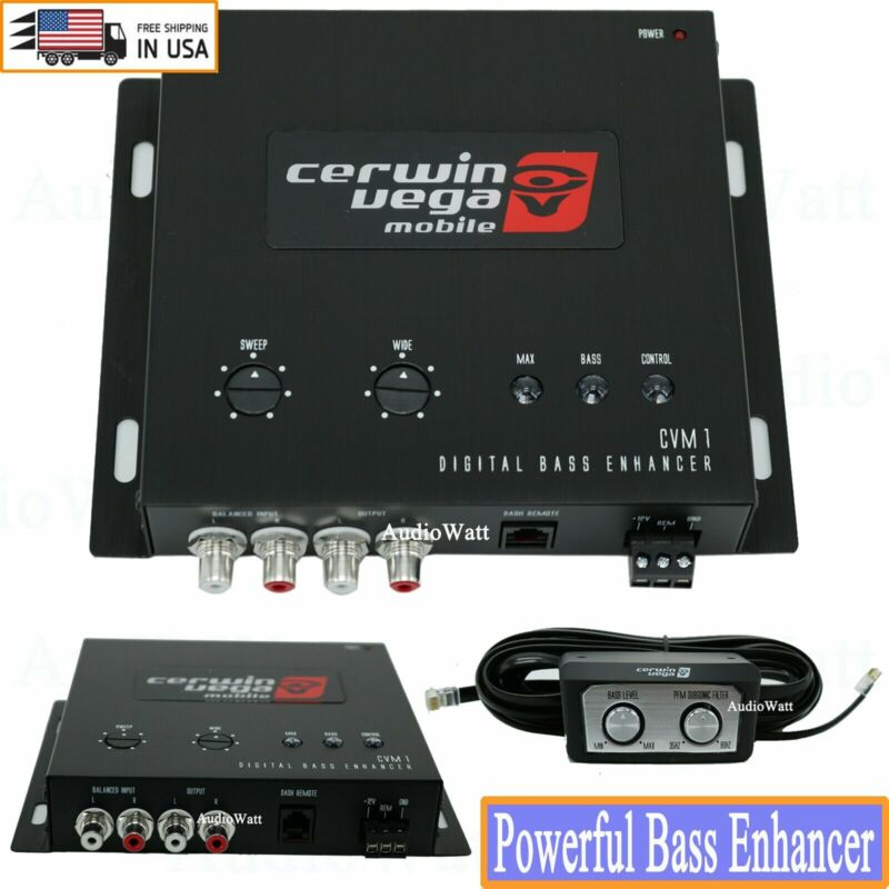 Cerwin-Vega CAR DIGITAL BASS BOOST RECONSTRUCTION PROCESSOR EPICENTER Equalizer