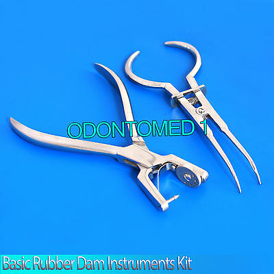 Basic Rubber Dam Instruments Kit Punch Pliers Ainsworth Brewer Dental Instrument