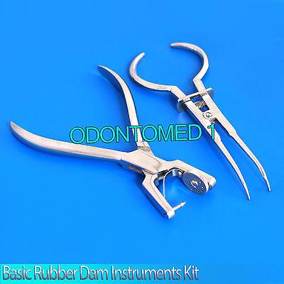 Basic Rubber Dam Instruments Kit Punch Pliers Ainsworth Brewer Dental Instrument