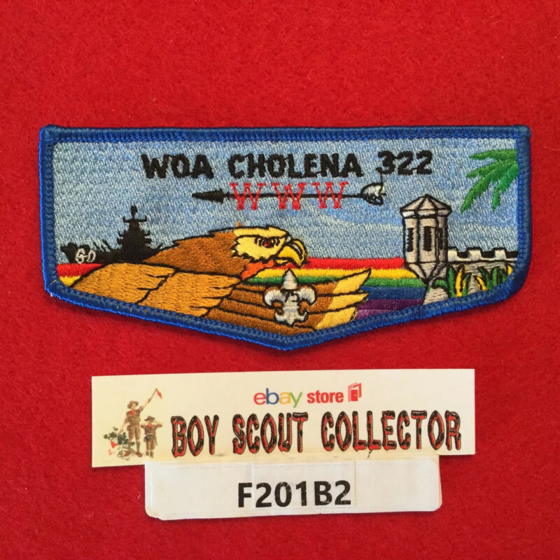 Boy Scout OA Woa Cholena Lodge 322 S10 75th Order Of The Arrow Flap Patch