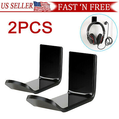 Headphone Hanger Display Stand Holder Acrylic Hook Under Desk Headset Wall Mount
