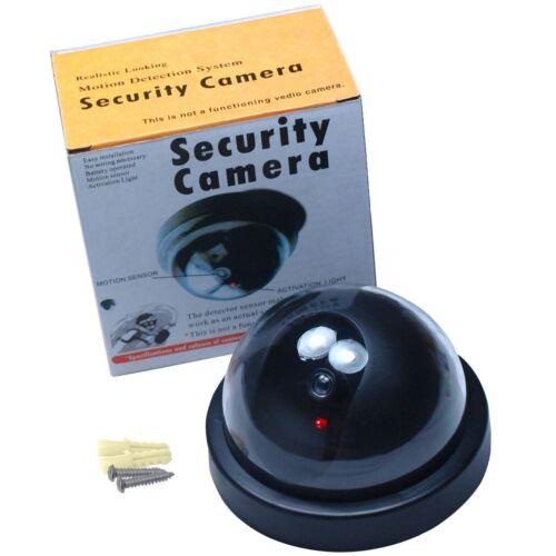 Fake Dummy Dome Surveillance Security Camera CCTV - Flashing LED Record Light
