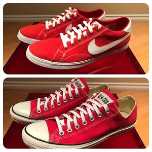 2 Red and White Shoes - Size 11 & 11.5 (Nike, Converse)