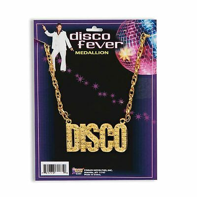 Disco Fever 1970s Necklace (1970S DISCO NIGHT FEVER BLING NECKLACE - mens womens fancy dress accessory )
