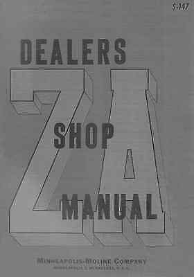 Minneapolis Moline Model Za Zae Zan Zas Zau Dealer Shop Service Manual S-147