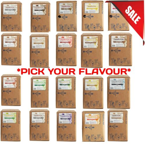 3 or 5 Gallon Bag in Box Beverage Soda Syrup Flavored Flavors Syrups Premium USA