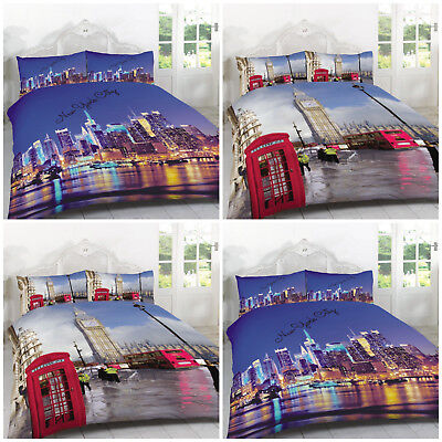 2018 New York City Skyline Duvet Quilt Cover Bedding Set Double Kingsize NYC NEW