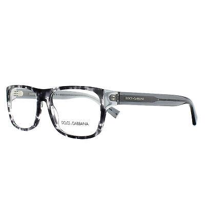 Dolce & Gabbana Brillengestell Dg 3276 3142 Havanna Schwarz Klar 52mm Herren
