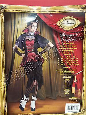 InCharacter Halloween Steampunk Vampiress Lady Sexy Victorian Costume Medium](Steampunk Victorian Lady Costume)