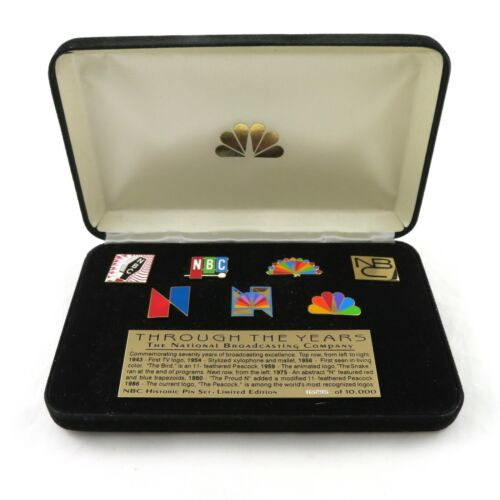 NBC Through The Years Historic Logo Pin Set 1943 - 1986 Limited Edition