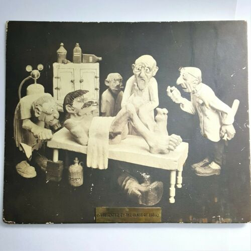 EXC RARE SURGICAL DOCTOR MEDICAL STUDENTS HUMOR CLASS OF 1910 EARLY CLAYMATION