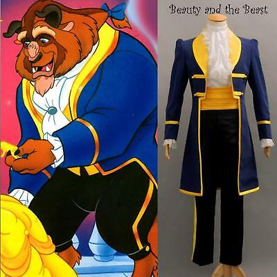 Beauty and the Beast Prince Adam Costume Suit or Mask for Adult Men (Beauty And The Beast Costumes Adults)
