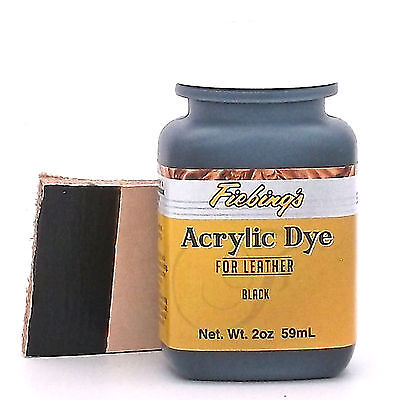 Fiebing's Acrylic Black Leather Paint 2 oz. (59mL) 2604-01 by Fiebing's