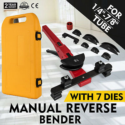 Multi Manual Pipe Tube Bender Tool Kit 14-78 With 7 Dies Bending Copper Pvc