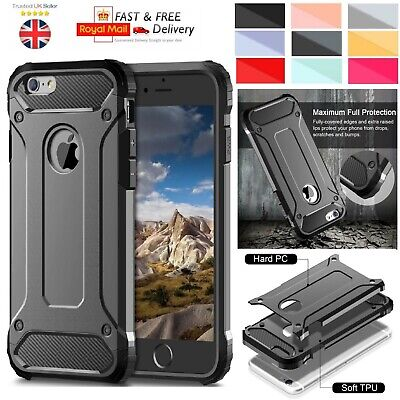 For iPhone 8 Plus Case - Heavy Duty Shockproof Rugged Tough Bumper Hybrid Armor