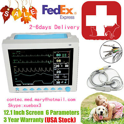 Us Seller Vet Veterinary Patient Monitor 6 Parameterecgnibpprspo2tempresp