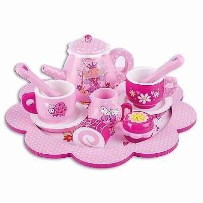 Holz Teeset Teeservice Kinder - Puppengeschirr Holz - Kaffeeservice LUCY LOCKET