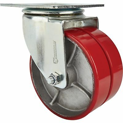 Strongway 8in Swivel Heavy-duty Dual-wheel Caster- 2600lb Cap Pursteel
