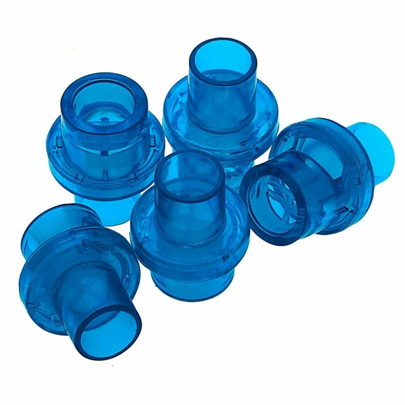 5pc Universal Plastic Cpr Pocket Resuscitator Mask Replacement Valves, 3 Colors